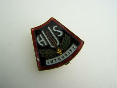 "Enamel High School Badge ""Integrity"" with chain by Schlank Adelaide 2751"