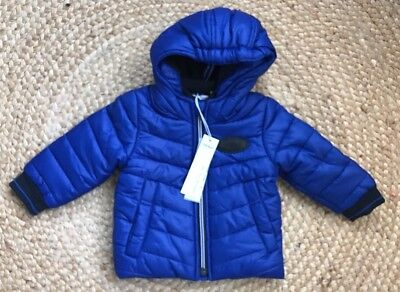 Baby Boy Jacket IKKS BNWT 6 Months Blue Puffa Jacket / Winter Jacket / Coat