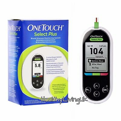 One Touch Select Plus Blood Glucose Meter/ Monitor/System - BOXED - RRP £79.99