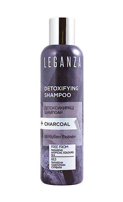 Leganza Detoxifying Shampoo With Active Carbon For Deep Cleansing 200ml