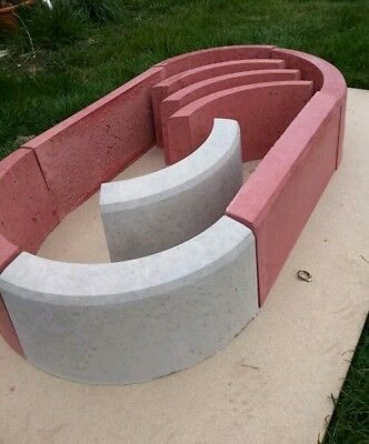 Concrete Round Edging +Straight Edging Plant Slab One Sided Mould / Divider
