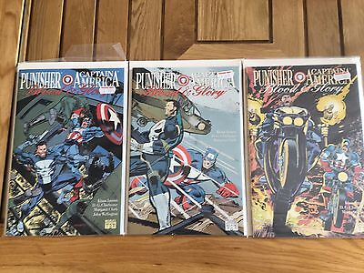Punisher Captain America Blood and Glory #1-3 1992 complete series