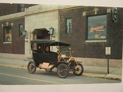 "1912 Model T FORD Touring, ""Lakewood Storage, Inc."" Ad postcard. Cleveland, Ohio"