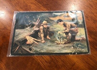 Scout Gum Company 1914 Rochester NY Boy Scout Postcard 3