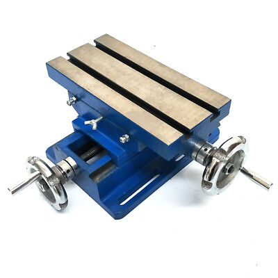 """5"""" 125mm Cross Feed 2 Way Work Bench Milling Drilling Cast Iron Sliding Table"""