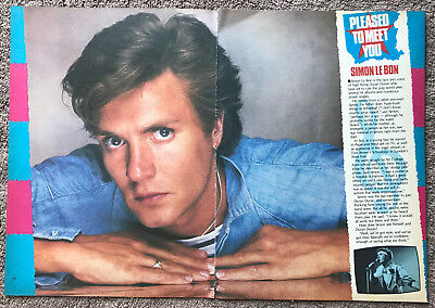 SIMON LE BON - 1982 2-page UK magazine annual feature DURAN DURAN