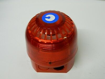 Klaxon sounder-beacon 17-60vdc Red LED 18-980502