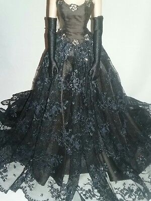 Robert Tonner Ooak Female Outfit *no Doll* Beautiful Satin Lace Ball Gown