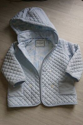 Boys Spanish Coat, Quilted Baby Blue 18-24m