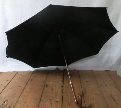 Vintage Aquachute Foxella Umbrella Made In England - Collar With Maker C&Ss