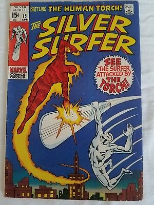Silver Surfer # 15, (April 1970) The Flame And The Fury, The Fantastic Four App.