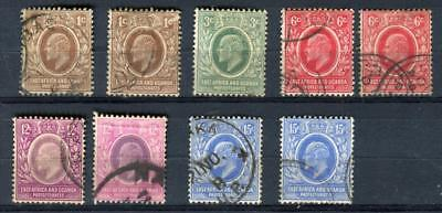 1907-08 British East Africa and Uganda Protect. Stamps,King Edwar Sc#31//36 Used