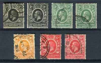 1912-18 British East Africa and Uganda Prot. Stamps,King George V Sc#40-43 Used