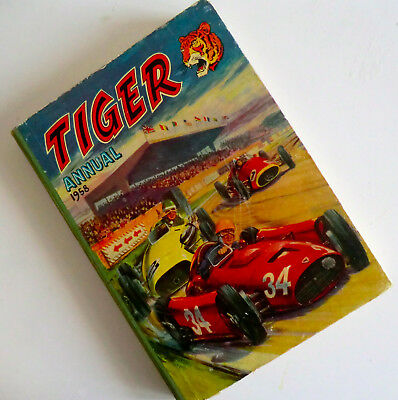 Vintage Hb Book - Second Tiger Annual 1958 - Unclipped - Early Roy Of The Rovers