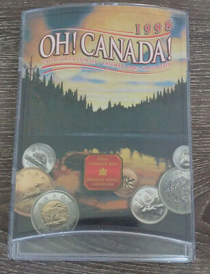 1998 W Oh! Canada Uncirculated Coin Set by Royal Canadian Mint