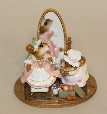 Wee Forest Folk A Stitch in Time Colonial Pink & Green LTD-10 (A) Mirror Mice