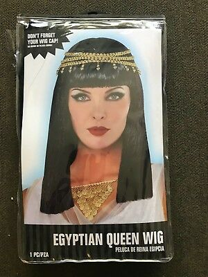 Amscan Gracious Gods and Goddess Egyptian Queen Wig 1 Piece, One Size,