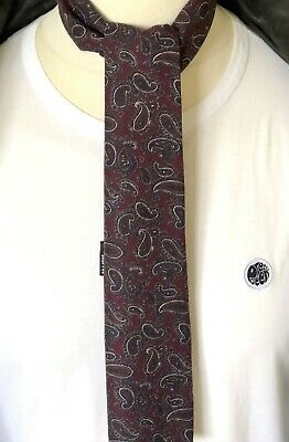 SUPERNOVA Maroon Vintage Paisley Junior Mod Scarf 3 years up RARE only 3 made