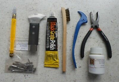 Stained glass making tools,glass cutter,pliers,lead cutter,nails,wire brush,etc.