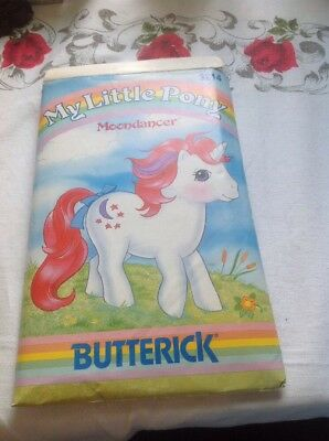 Vtg 80s Butterick 3214 Hasbro My Little Pony MOONDANCER  Toy PATTERN Uncut