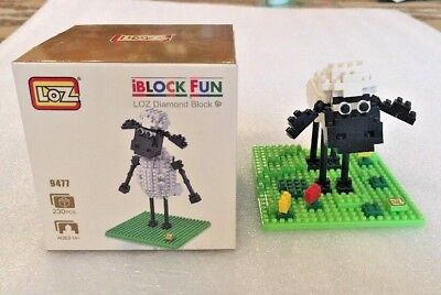 iBLOCK FUN LOZ Diamond Blocks Mini Shaun the Sheep Blocks, 2 sheep