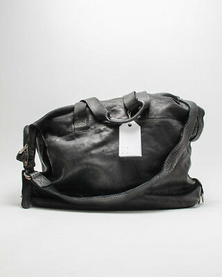 GUIDI TRAVEL BAG BLACK SOFT HORSE LEATHER, Bolso de viaje