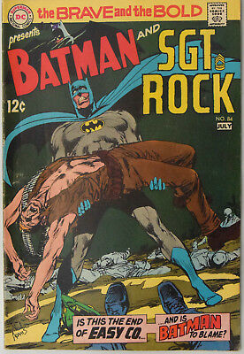 Brave and the bold #84 (June-July 1969, DC) Neal Adams. Solid Fine book.