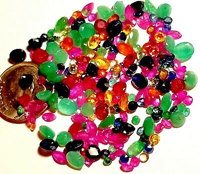 Over 5 Carats Natural Sapphire Ruby Emerald 25-50 gemstones lot Sale Save $40