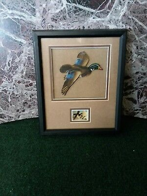 Ducks Unlimited Wall Hanging Flying Wood Duck