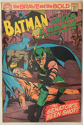 Brave and the Bold #85 F+/VF-    New Green Arrow Costume - Neal Adams!