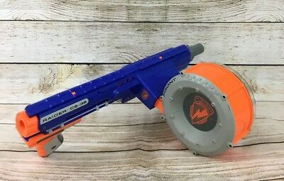 Nerf Raider Cs-35 N-Strike Machine Gun Dart Blaster + Drum