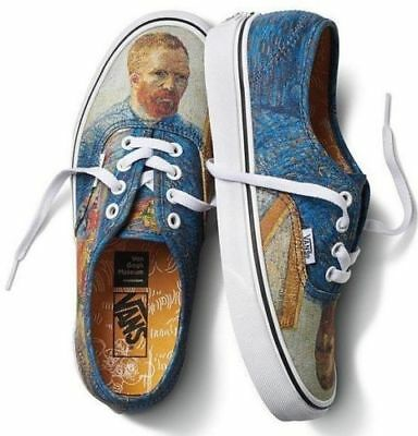 Vans x Van Gogh Museum Self Portrait size 10.5. Blue Tan White. Limited.