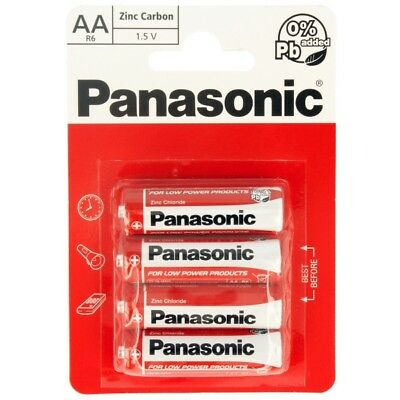 AA Genuine PANASONIC Zinc Batteries 4 Pack New R6 1.5V FAST & FREE DELIVERY