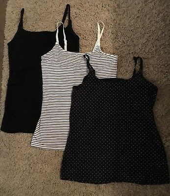 3x Maternity/Nursing Vests, size 12/Medium (Next, H&M)