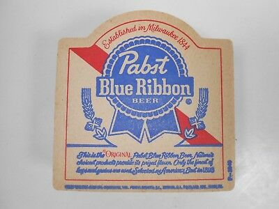 Lot of 30 Pabst Blue Ribbon die-cut coasters, 2-sided, new old stock