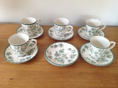 BHS Country Vine Cups x 5  & Saucers x 7