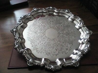 A Lovely Vintage Silver Plated Tray-Genuine Viners