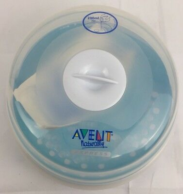 Philips AVENT Naturally Express Microwave Steam Bottle Sterilizer 3 pc VGUC