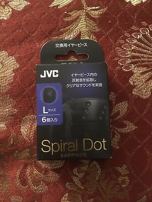 Free Shipping! Buynow! VICTOR JVC EP-FX9L-B Spiral Dot Earpiece (Size L / 6 pcs)