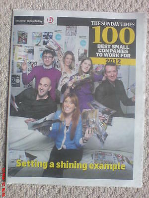 The Sunday Times 100 Best Small Companies To Work For 2012 New Pull-Out