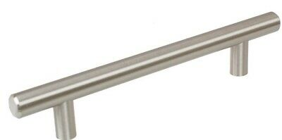 Cabinet Bar Handle Pull 5 in. Thick Solid 7-3/8 in. Long Stainless Steel 20-Pack