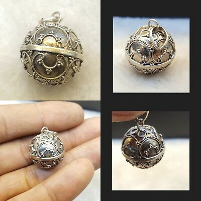 Very Beautiful Quality Sterling Silver Bell Pendant Vintage Afghan Pendant #DU55