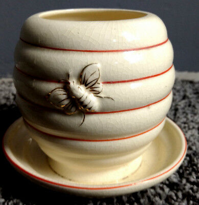 Charming Vintage Noritake Beehive Honey Pot With Under Plate NICE!