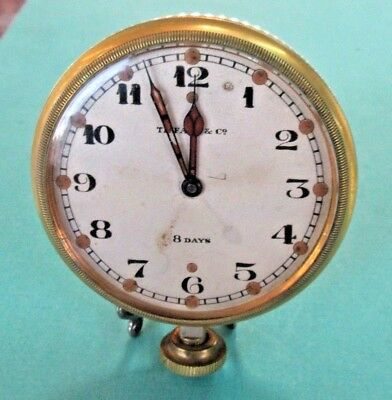 Antique TIFFANY & CO. 8-DAY DASH BOARD CLOCK - WORKING - Estate Piece!