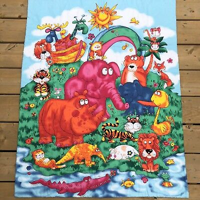 Noah's Friends Northcott Studios Completed Baby Quilt Animals Ark Wall Hanging
