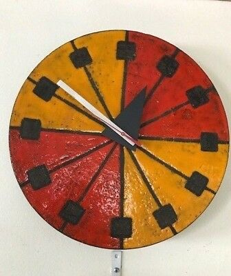 Howard Miller/George Nelson/Raymor/Bitossi Ceramic Wall Clock