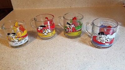 1978 McDonald's Garfield / Odie Jim Davis Glass Mugs Cups - Lot of 4