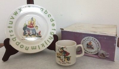 Vintage Nursery Rhyme China Plate & Cup Child's Size Mary Quite Contrary Banbury