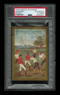 PSA (Authentic) LaCROSSE 1878 Huntley & Palmers Sports Card
