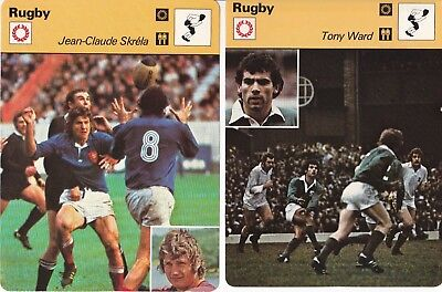 5 large rugby cards 1978 1979 Editions rencontre Butterfield Ward Skrela Meads